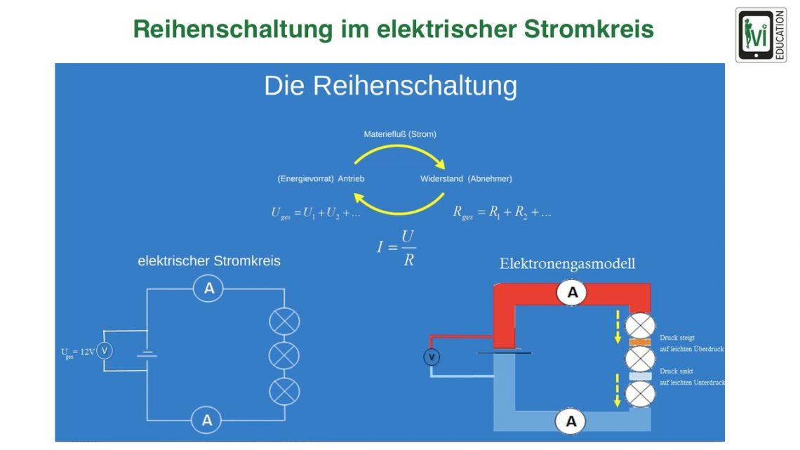 Reihenschaltung im elektrischen Stromkreis - Lernvideo von A.Sorgenfrei